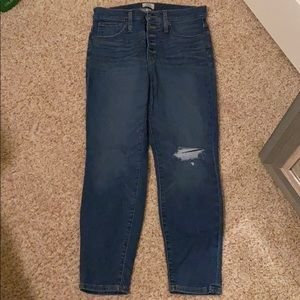 """J. Crew high-rise """"toothpick"""" jeans"""